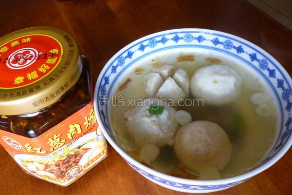 葱香综合丸汤的做法