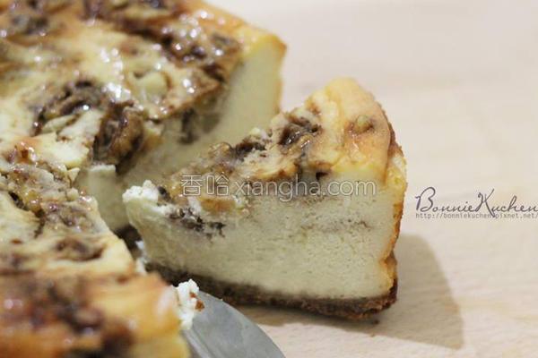 核桃黑糖起司蛋糕的做法