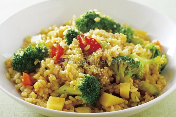 咖哩花椰菜炖饭的做法