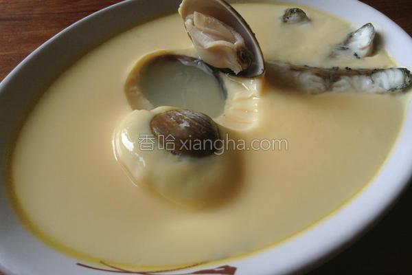 海鲜蒸蛋的做法