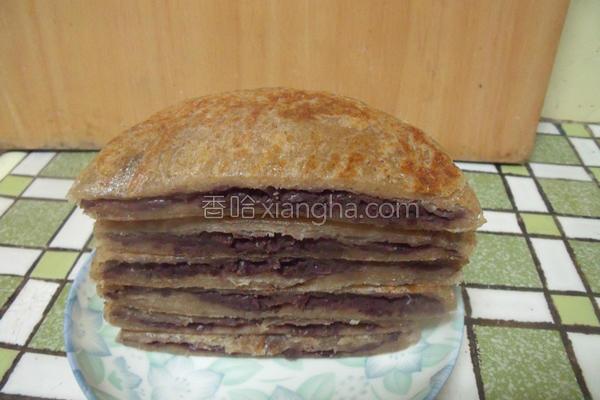 全麦红豆煎饼的做法