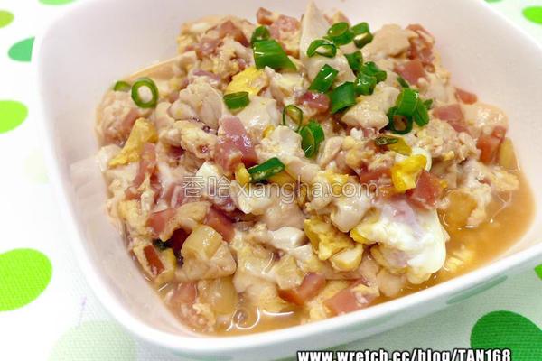 火腿蛋烧豆腐的做法