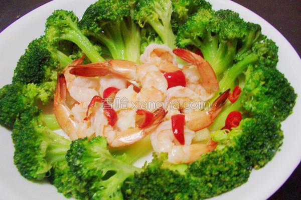 花椰鲜虾的做法