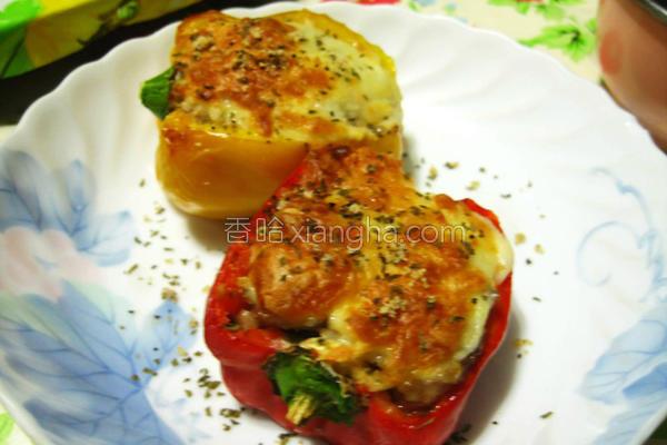焗烤镶肉甜椒的做法