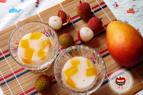 荔枝芒果果冻的做法
