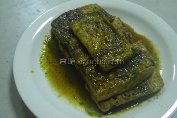 香椿煎豆腐的做法