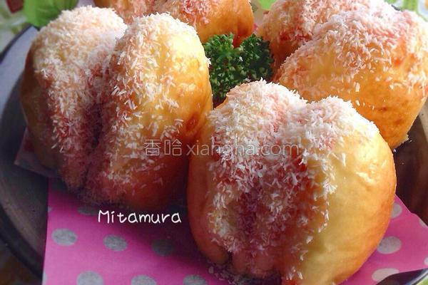 草莓椰香面包的做法