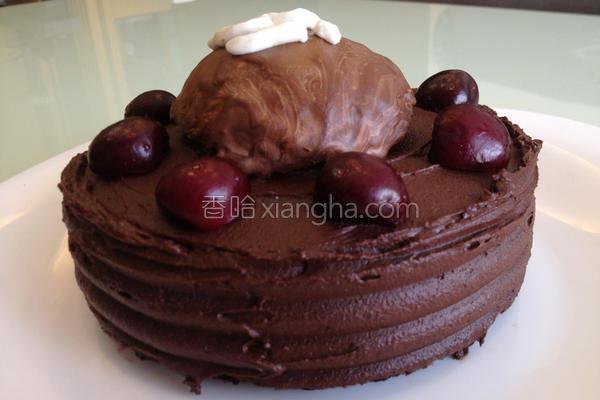 巧布尼樱桃蛋糕的做法