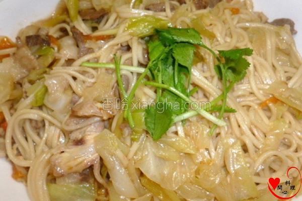 蔬菜羊肉卤面的做法
