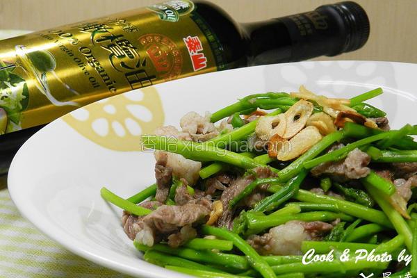 芦笋花炒羊肉的做法