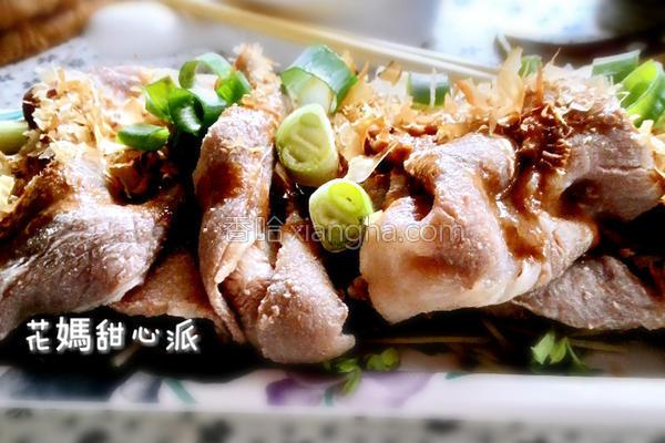 柴鱼麻酱拌肉片的做法