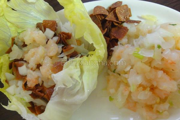 清爽生菜虾松自己的做法