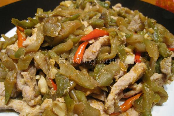 粉猪儿榨菜炒肉丝的做法