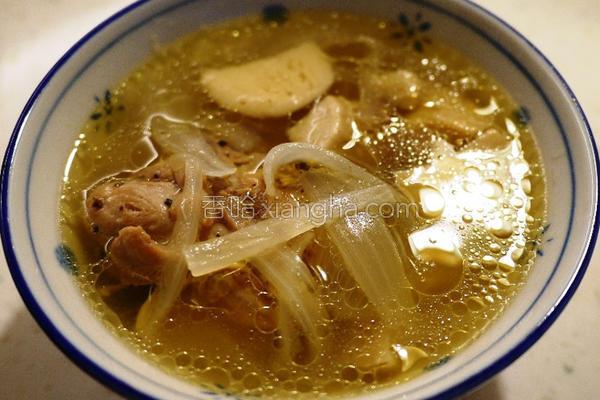 暖唿唿洋葱嫩鸡汤的做法