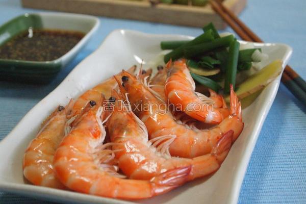 鲜甜白虾的做法