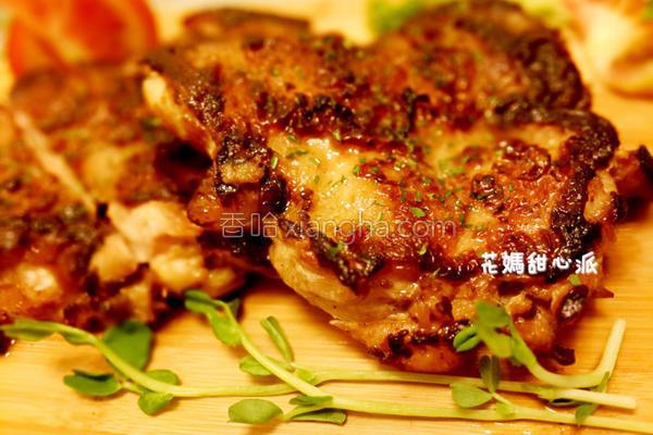 嫩煎鸡腿肉的做法