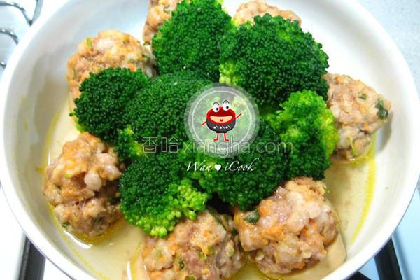 杏鲍菇蒸肉丸的做法