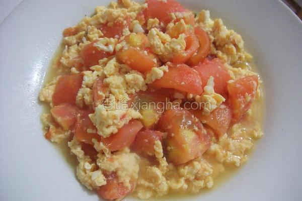 小雨食堂番茄炒蛋的做法