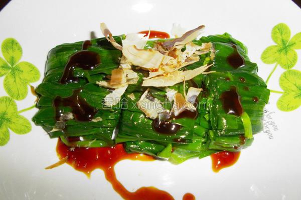 冰镇韭菜卷的做法