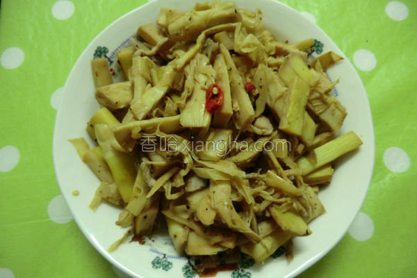 肉丝炒笋子的做法