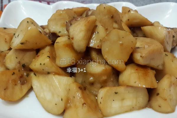 奶油香蒜杏鲍菇的做法