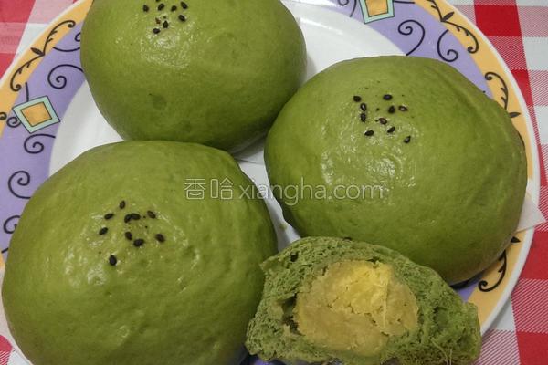 抹茶地瓜馒头的做法
