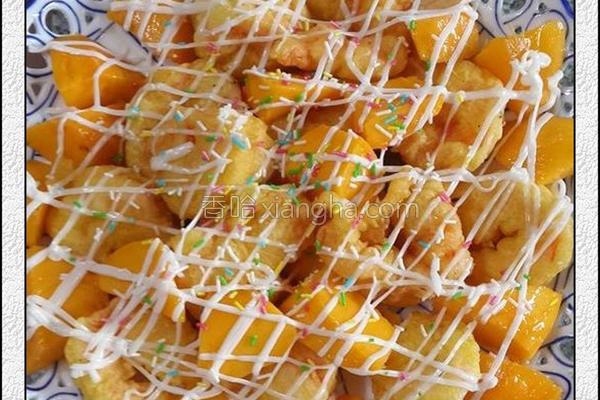 芒果虾球的做法