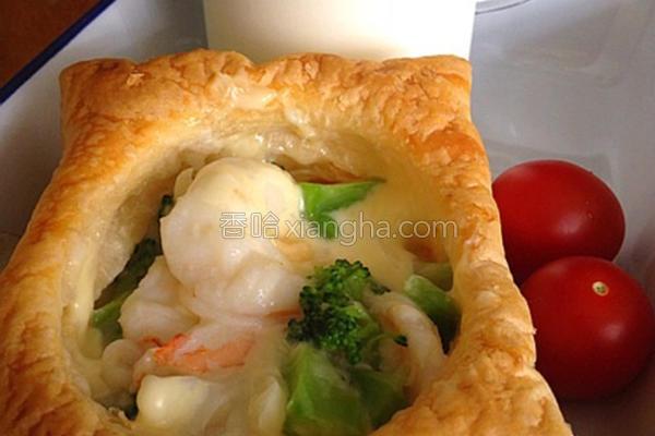 鲜虾花椰菜酥盒子的做法