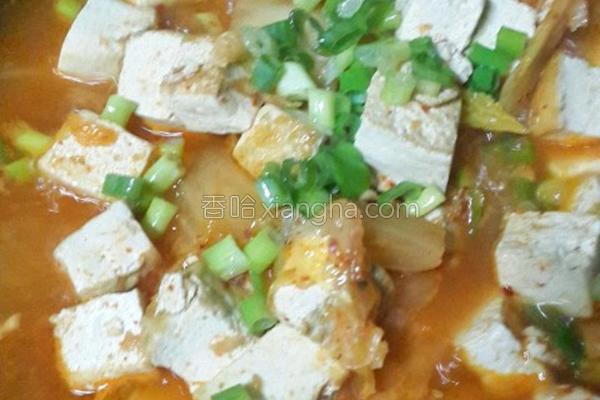 韩式泡四季豆腐的做法