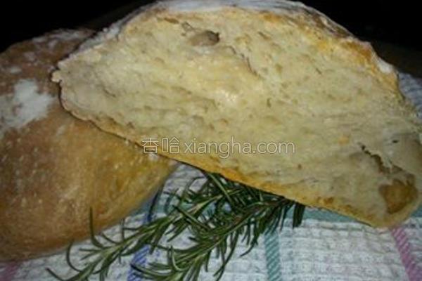 免揉原味欧式面包的做法