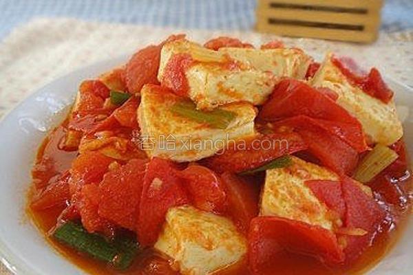 鲜茄蛋豆腐的做法