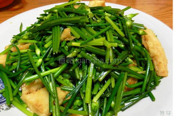 韭菜花甜不辣的做法