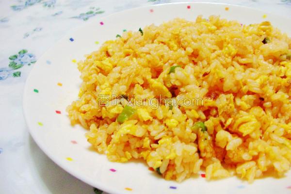 茄汁蛋炒饭的做法