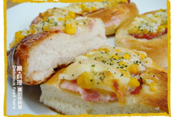 玉米培根面包的做法