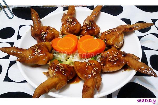 糯米镶鸡翅的做法