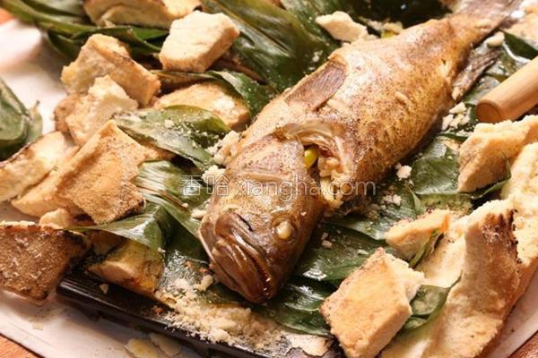 窑烧盐封烤石斑鱼的做法