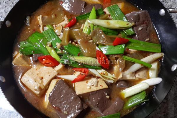 椒麻双色豆腐煲的做法