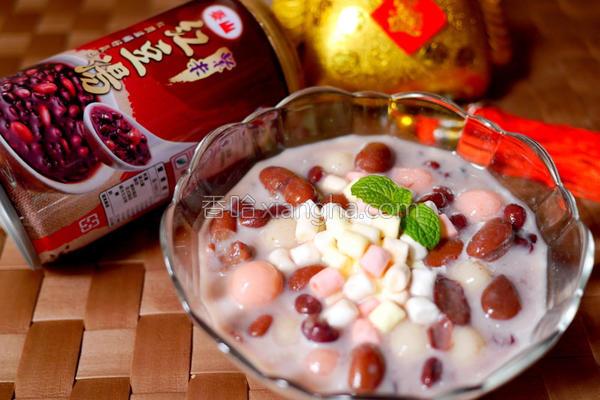 泰山紫米红豆汤的做法