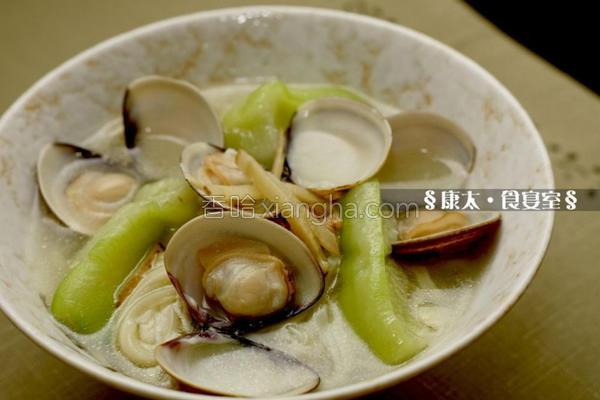 丝瓜蛤蜊豆菜面的做法