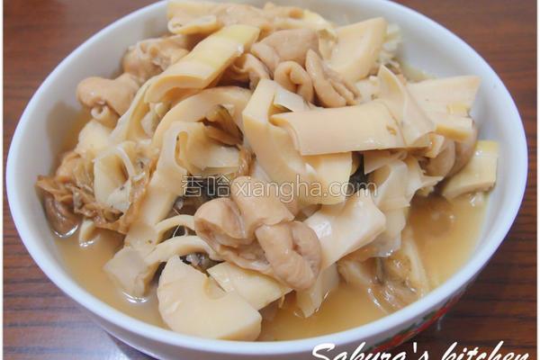 卤肥肠桂竹笋的做法