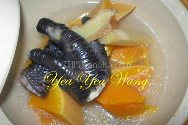 甘蔗南瓜鸡脚汤的做法