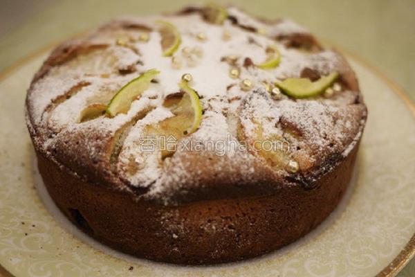 水梨杏仁蛋糕的做法