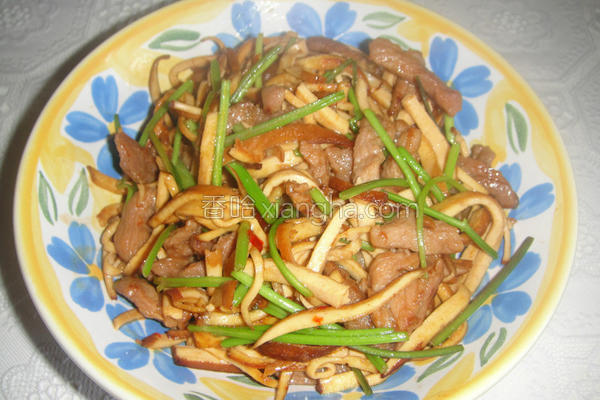 香根豆干肉丝的做法