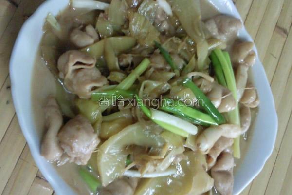 酸菜炒大肠的做法