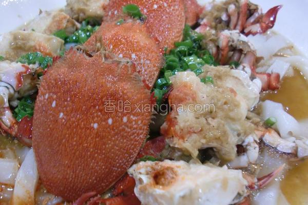 蒜蓉蒸旭蟹的做法