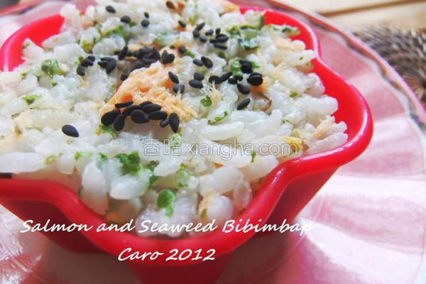 鲑鱼海苔甘松饭的做法