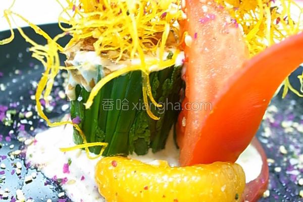 小磨坊缤纷蕨菜卷的做法