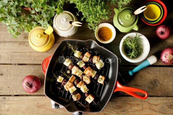 迷迭香烙烤鲑鱼串的做法