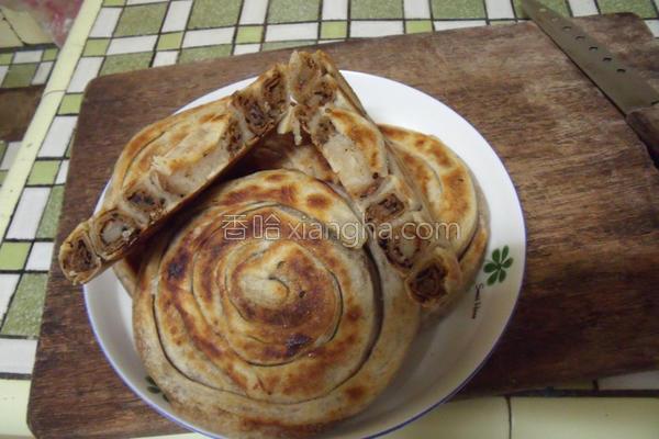 花生芝麻盘香饼的做法