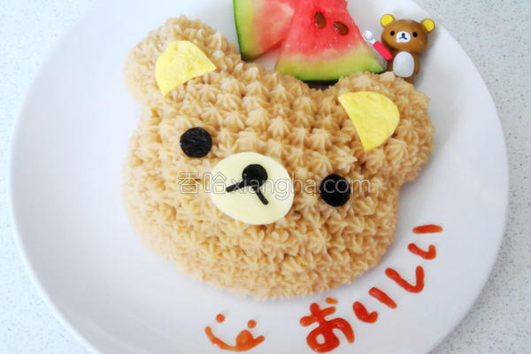 拉拉熊蛋糕饭饭的做法